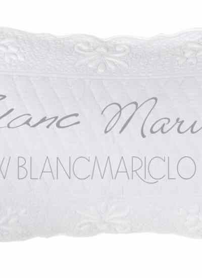 "Copriguanciale Bianco ""Bergamotto Collection"" Blanc Mariclò"