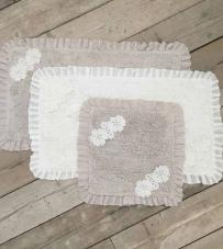 "Tappeto rettangolare panna ""Lace Collection"" Blanc Mariclò."