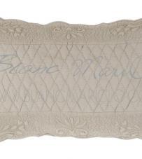 "Copriguanciale Tortora ""Bergamotto Collection"" Blanc Mariclò"
