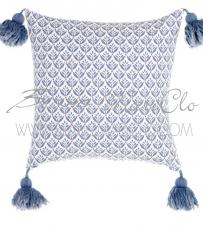 "Cuscino con nappe ""Pattern Mediterraneo"" Blanc Mariclò"