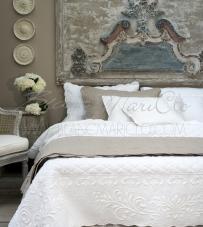 "Boutis Matrimoniale bianco ""Bergamotto Collection"" Blanc Mariclò"