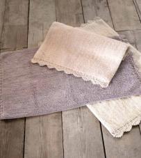 """Tappeto bordo crochet grigio perla """"Crochet Collection"""" Blanc Mariclò"""