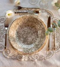 "Tovaglietta ovale ""Ophelia Collection"" Blanc Mariclò"