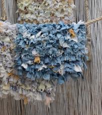"Tappeto azzurro ""Rag Collection"" Blanc Mariclò"