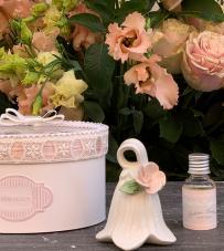 """Profumatore campanella fiore pesca con essenza """"Roses"""" RDM Design"""