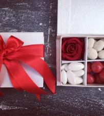 "Box confettata ""Rouge"" 9x9x4"