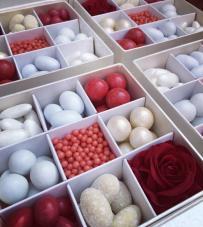 "Box confettata ""Rouge"" 13x13x4"