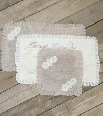 """Tappeto tortora rettangolare """"Lace Collection"""" Blanc Mariclò"""
