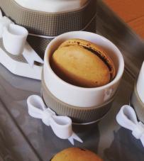 "Set 2 tazzine caffè tortora ""Chic & Pastel"" Baci Milano"