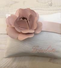 """Busta personalizzata con nome + rosa in carta """"Flower Glam"""""""