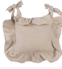 "Blanc Mariclò - Copricuscino con gala beige ""Basic Collection"""