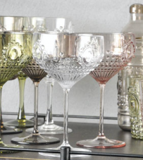 "Set 6 bicchieri cocktail trasparente ""Baroque & Rock"" Baci Milano."