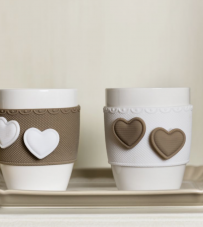 "Set 2 Mug ""Sweet Love"" Baci Milano"