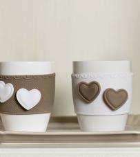 "Set 2 Mug ""Sweet Love"" Baci Milano"