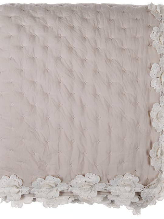 Blanc Mariclò - Boutis Beige con roselline