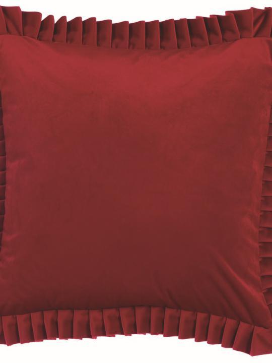 Cuscino in velluto rosso
