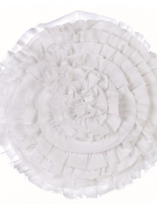 Cuscino Tondo Bianco