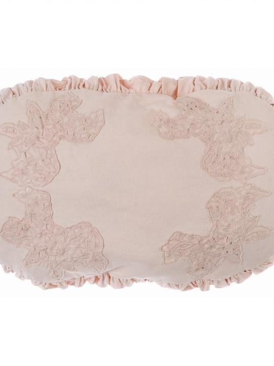 Cuscino ovale rosa