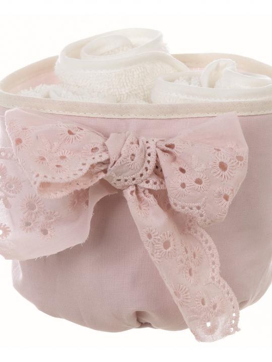 Cestino porta lavette rosa