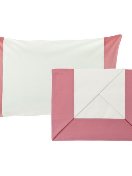 Completo lenzuola 1 piazza e mezza balza raso Rosa Antico