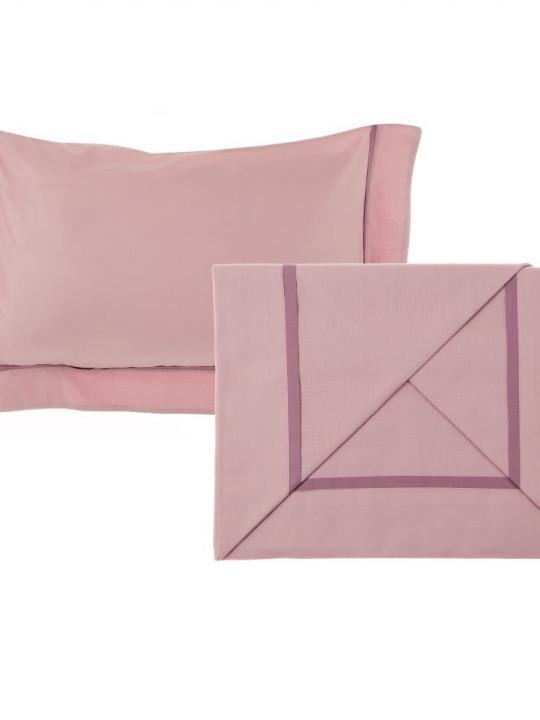 Completo lenzuola matrimoniale rosa