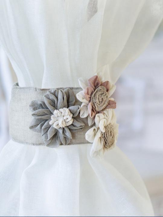 Blanc Mariclò Embrasse con fiori