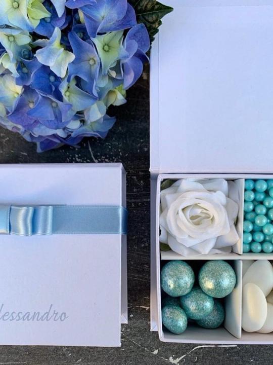 Box confettata azzurro