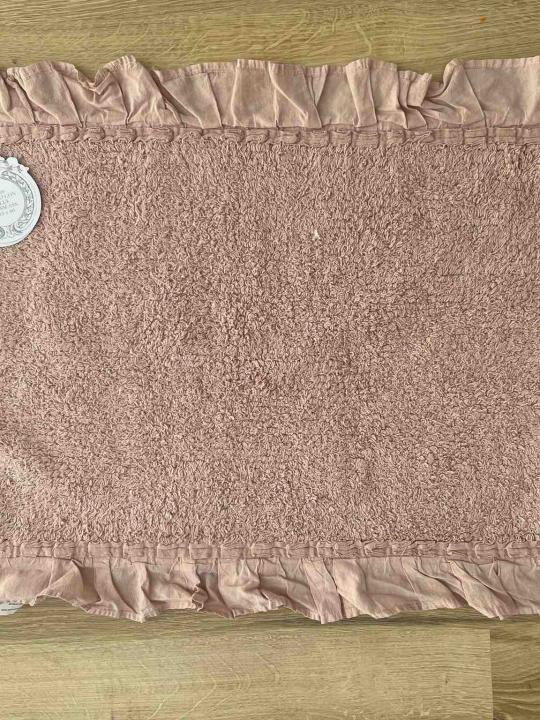 Tappeto rettangolare rosa con frills