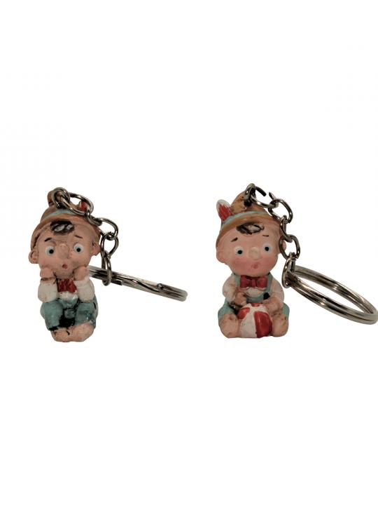 Sacchetto con portachiavi Pinocchio