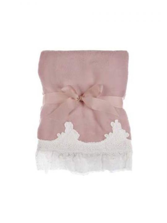 Blanc Mariclò - Plaid rosa