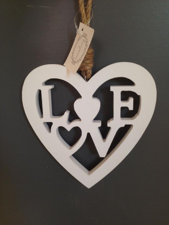 Cuore nordic Love in legno