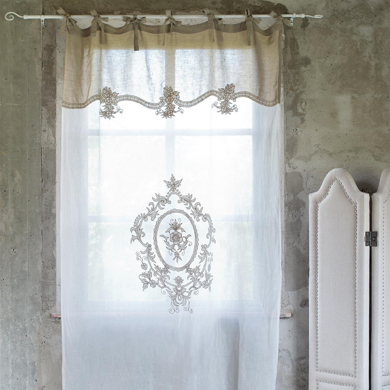 Tenda panna e beige vintage blanc maricl petit r ve for Tende shabby chic on line