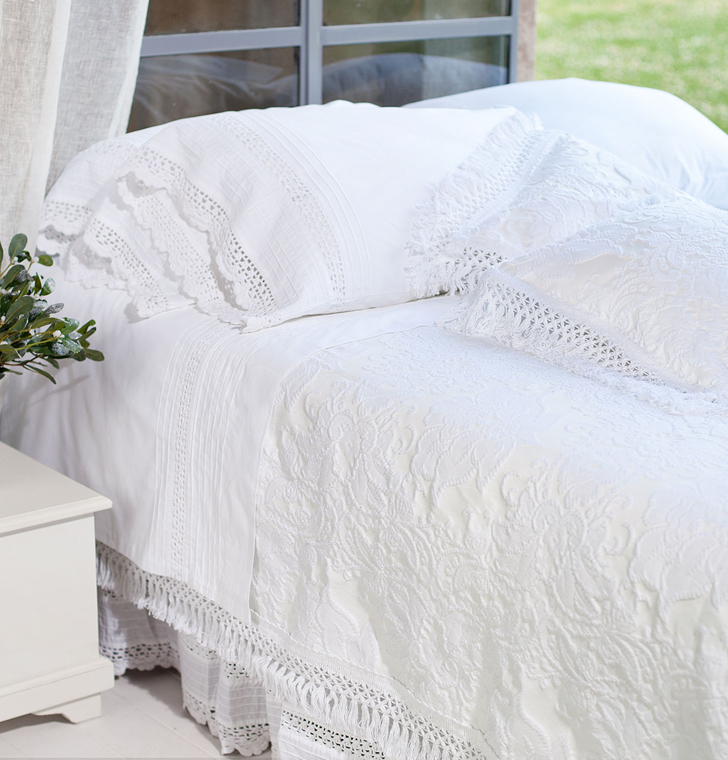 Copriletto Matrimoniale Ana Collection Blanc Maricl